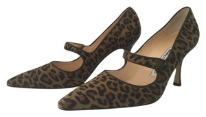 Manolo Blahnik Pump Mary Jane Stiletto Brown Pumps