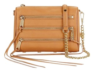 Rebecca Minkoff Leather Zipper Chain Cross Body Bag