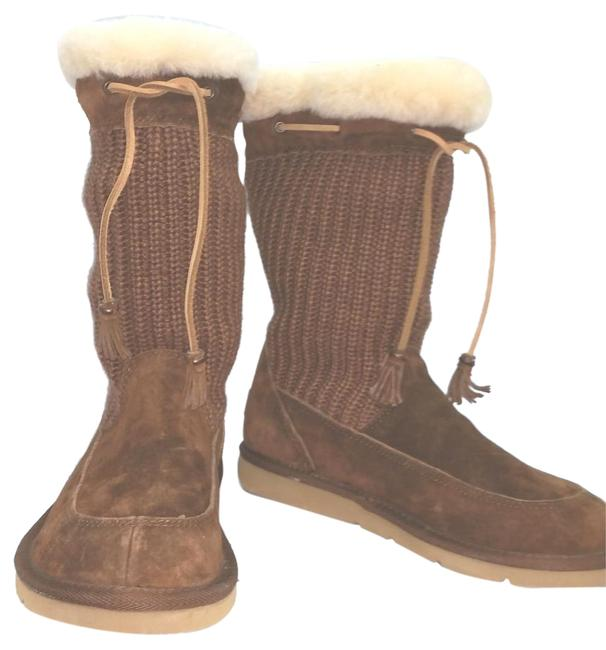 UGG Australia Sheepskin Lining Knit and Suede Leather Boots/Booties Size US 7 Regular (M, B) UGG Australia Sheepskin Lining Knit and Suede Leather Boots/Booties Size US 7 Regular (M, B) Image 1