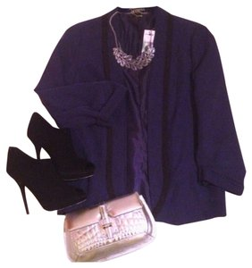 Express Super Soft Navy & Black Blazer
