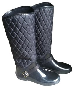 Sperry Rain Quilted Black Boots
