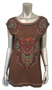 Uncle Frank short dress Brown Embroidered Gauzy Boho on Tradesy