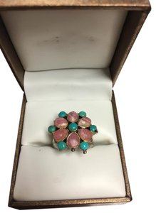 Barse Chunky Turquoise and Pink Ring - Sterling Silver Barse Statement 7
