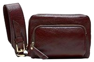 Banana Republic Zipper Gold Hardware Wristlet in Black Rose (Reddish Brown)