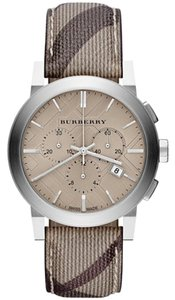 Burberry Burberry Watch, Men's Chronograph, Smoke Check Fabric Strap, BU9361