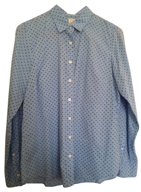 Preload https://item2.tradesy.com/images/jcrew-blue-long-sleeve-short-button-down-top-size-8-m-1665601-0-2.jpg?width=400&height=650