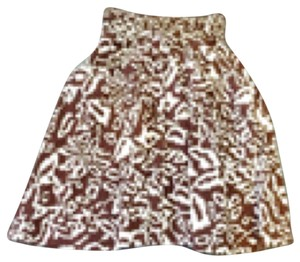 Diane von Furstenberg Skirt Brown and white