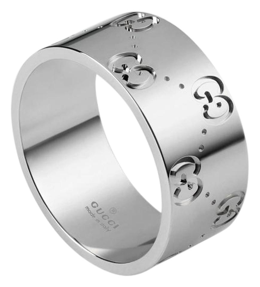7d985a1c9876 Gucci Gucci Icon 18K White Gold Band (size  6.5) Image 0 ...