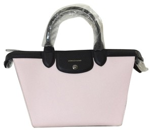 Longchamp Satchel in Girl/black/white