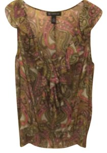 INC International Concepts Top Green/pink multi