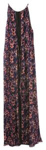 Navy and Red Maxi Dress by Veronica Beard Maxi Long Floral Maxi