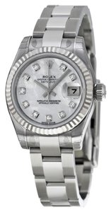 Rolex Rolex Datejust Steel and White Gold Mother of Pearl Diamond Dial 26mm 179174 MDO