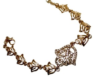 Other New 14K Gold Filled Rose Bracelet Cubic Zirconia Crystals J596