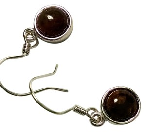 New Pietersite Gemstone Earrings 925 Silver Small 8 mm round J597