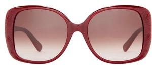 Valentino Rectangular Etched Rose Sunglasses