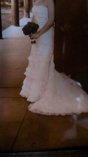 Preload https://item4.tradesy.com/images/oleg-cassini-ivorychampagne-tulle-and-lace-cwg352-vintage-wedding-dress-size-petite-6-s-1665693-0-0.jpg?width=440&height=440
