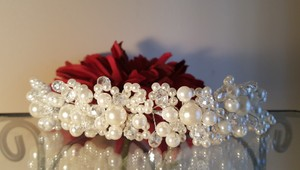 Bridal White Pearl Hair Tiara