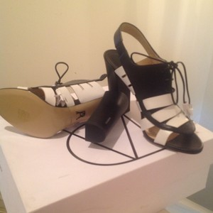 Paul Andrew Black and White Sandals