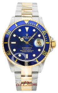 Rolex Rolex Submariner Two-Tone Blue Dial 16613 Blue