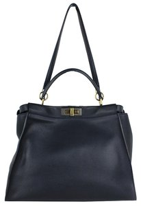 Fendi Peekaboo Navy Shoulder Bag