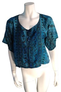 Other Blue Silk Boho Silk Blue Hippie Top Multicolor