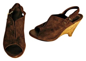 Latitude Swirl Heel Brown Wedges