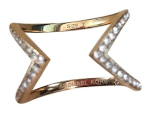 Michael Kors Michael Kors Rose Gold MK Arrow Ring Size 7