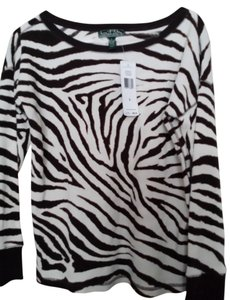 Ralph Lauren Classy Spa Lauren Active Top Animal Print zebra