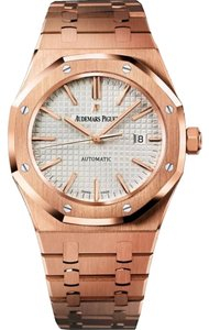 Audemars Piguet Royal Oak Automatic Silver Dial 18kt Rose Gold Men's Watch 15400OROO1220OR02.