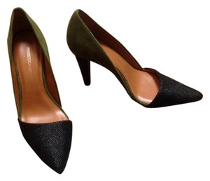 Rebecca Minkoff Very Cuoio Heels Olive green and black Pumps