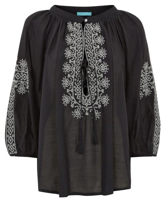 Item - Black Fatima Top Cover-up/Sarong Size OS (one size)