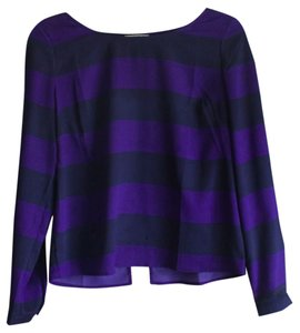 Anthropologie Chiffon Top Black Purple