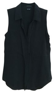 Theory Button-down Sleeveless Top Black
