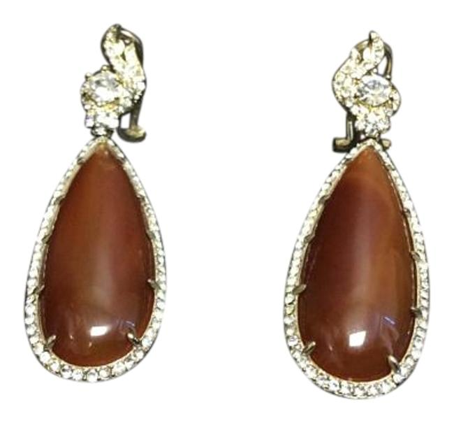 Carnelian Drop Leverback Gold E. Plated Earrings Carnelian Drop Leverback Gold E. Plated Earrings Image 1