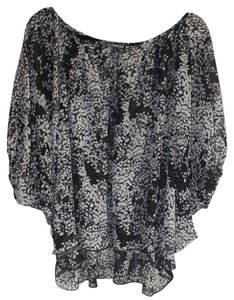 Express Loose Dressy Off The Top Black and White