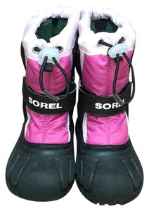 Sorel All-weather Kids Black, Pink Boots