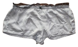 Victoria's Secret Drawstring Short Silk Lace Mini/Short Shorts Silver