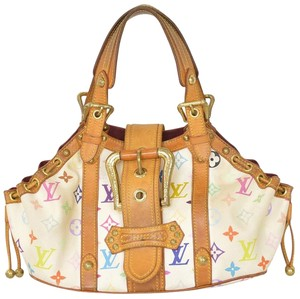 Louis Vuitton Monogram Multi Color Theda Theda Gm Satchel in White