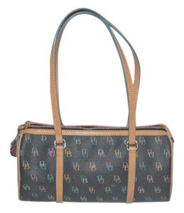Dooney & Bourke And Signature Barrel Straps Shoulder Bag