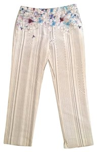 3.1 Phillip Lim Cropped Pencil Trousers New With Tags Watercolor Floral Silk Blend Capri/Cropped Pants