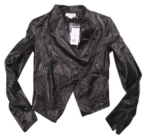 Helmut Lang Razor Leather Cropped Leather Jacket