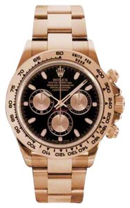 Rolex Rolex New Style Pre Owned Daytona Rose Gold Black Dial 40mm 116505 BKSO