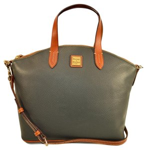Dooney & Bourke Leather And Satchel in Dark Grey