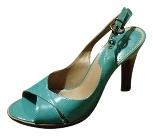 Aldo Platform Patent Leather Aqua Platforms
