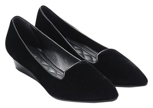 Cole Haan Smoking Slipper Tali Luxe Black Velvet Wedges