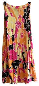 INC International Concepts Top Black, Pink, Orange, Yellow and White