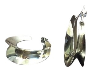 Other C Shaped Drop Sterling Silver Post Earrings