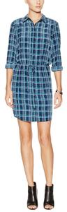 Marabelle short dress Blue and Green Plaid T-shirt on Tradesy
