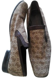 Guess By Marciano Brown Leather/Fabric Flats