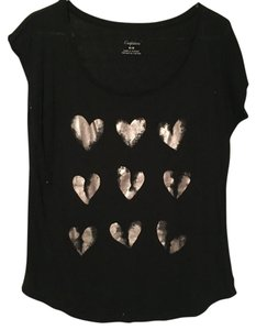 American Eagle Outfitters T Shirt Black & Silver